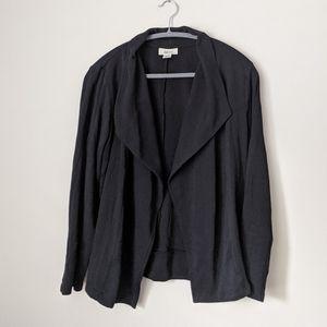 Black open Drape from blazer cardigan cotton xl